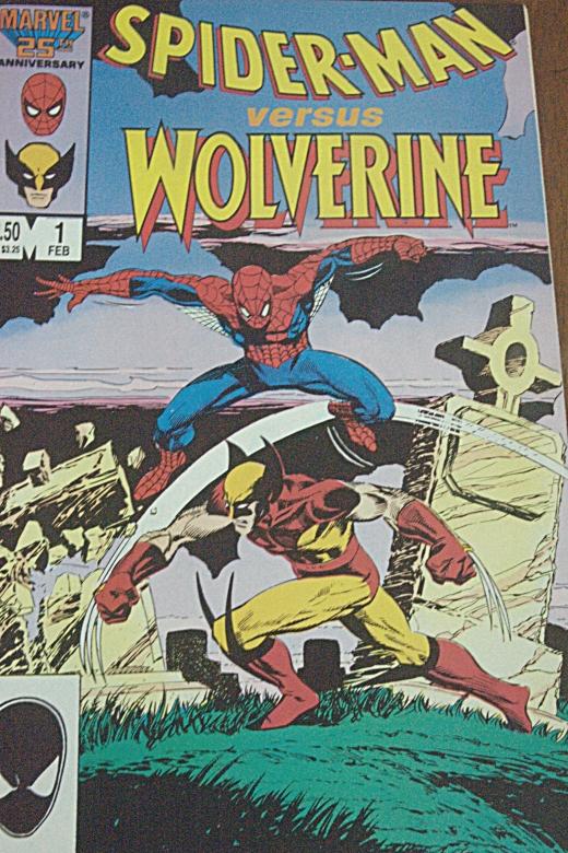 Spider Man vs. Wolverine Marvel Comics #1 (1987) - SS 1/15, F22, Focal Length 34mm