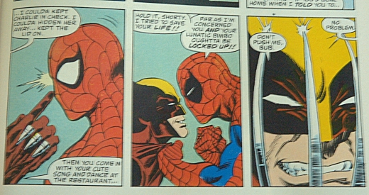 Spider-Man vs Wolverine Strip - SS 1/10, F20, Focal Length 70mm