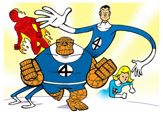 Fantastic Four Fan Art - Credit: Ape Lad via Flickr