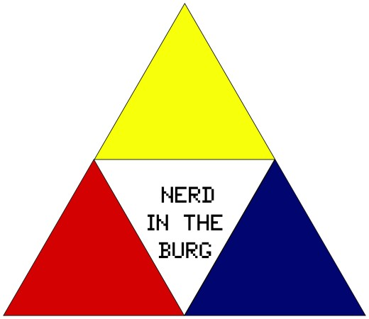 Nerd in the burg logo