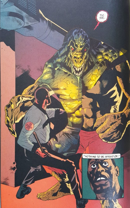 Living Hell #4 with Killer Croc from Batman: Face the Face