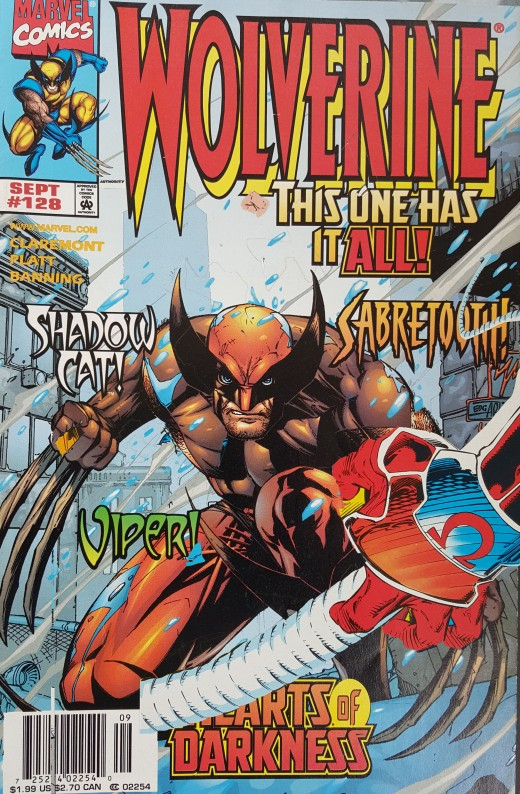 Wolverine cover wit Omega Red