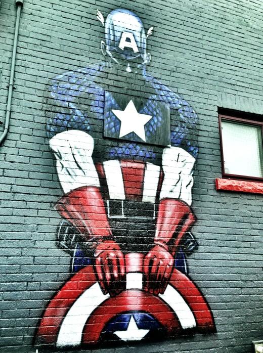 Capt. America graffit - John Piercy Flickr